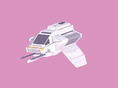 Phantom pastel low poly blender 3d 3d modeling space ship ghost rebels star wars phantom
