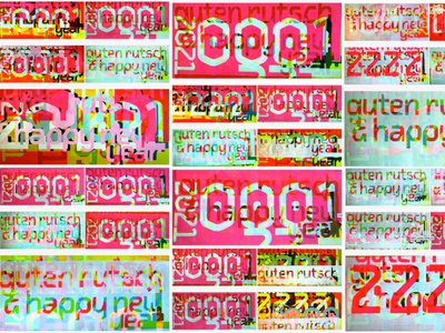 2021 New year's card typeface screenprint typogaphy