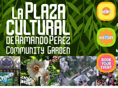 LaPlazaCultural website garden ui custom typography wordpress theme web wordpress
