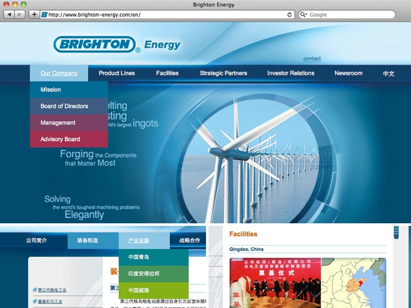 Brighton-energy.com website corporate website html css php coding web user interface
