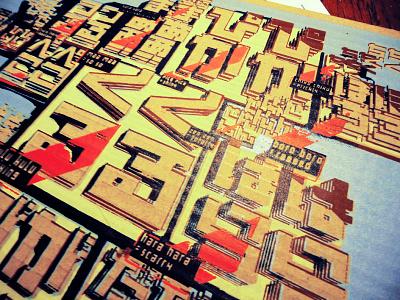 Kulu3 Dribble poster typography screen print anselmdastner katakana