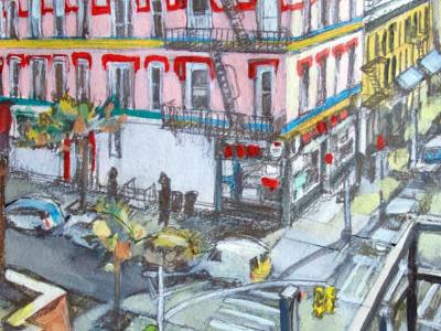 Aveb N 4thst streetpainting streetscens aquarel watercolor drawing bushwick capsulefineart newyorkcitypaintings anselmdastner