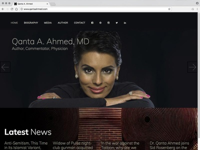 Qanta Ahmed website news media anselm dastner qanta ahmed muslim journalism website