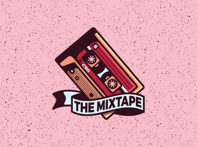 The Mixtape mixtape shadows hard pink badge icon cassette