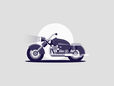 Motorbike monochrome motor bike flat motorbike