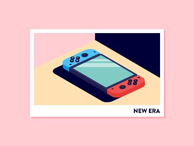 New Era nintendo switch identity brand icon isometric videogames nintendo