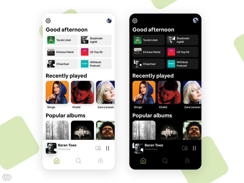 Spotify Redesign Concept music app spotify music player light dark mobile ui mobile app mobile ios android