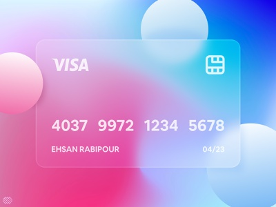 Credit Card | Glassmorphism light credit card gradient 2021 trend trendy design banking mastercard visa creditcard card glassy glass