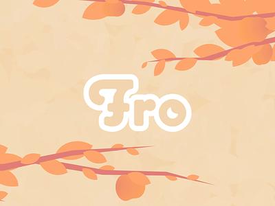 Fro Splash Animation branding advertising motion design illustration pastel vegan food vegan frozen yogurt aftereffects trees tree food leaf leaves after effects peach yogurt splashscreen animation