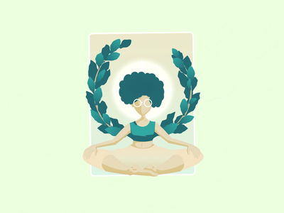 There's Good Inside pastel positive animation tranquility peaceful tranquil peace card houseplants plants yoga illustration mograph motiondesign motiongraphics motion method theregoodinside