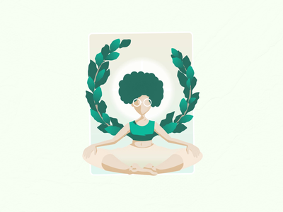There's Good Inside 2 card positive houseplants plants yoga theresgoodinside illustration peaceful tranquility tranquil peace mograph motiondesign motiongraphics animation pastel