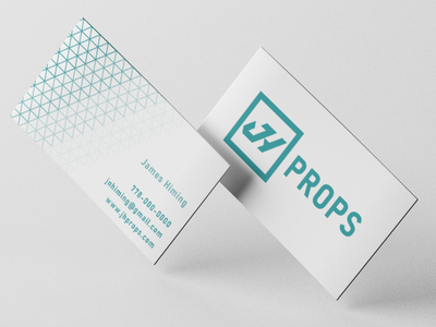 JH Props Business Card abstract card vancouver grid geometric emblem logo brand identity branding brand film industry props prop print design print business card businesscard