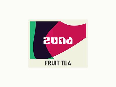 Zuna - Fruit Tea brand design blob abstraction fruit tea fruittea drink brand brand identity branding abstract logo tea fruit