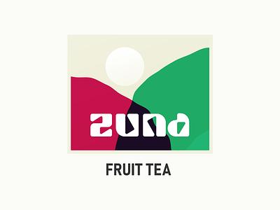 Zuna - Fruit Tea logo design identity design brand identity brand design abstraction abstract hills hot drink drink fruit tea fruit tea fruittea briefbox logo branding
