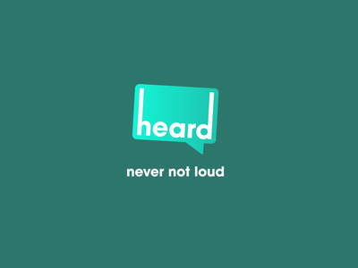 heard - PR & Marketing Firm start-up logo design logodesign brand identity heard pr public relations firm marketing slogan sanserif loud speech bubble speechbubble speech green briefbox brand logo branding