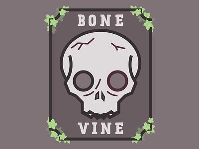 Bone Vine - Winery emblem branding design label wine labels wine label logos vine skull illustration logo branding winery wine