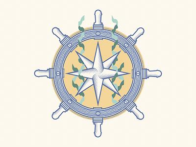 Compass Rose Wheel boats wheel boat wheel emblem sea wip wheel kelp lineart illustration ships wheel ship navigation compass rose compass naval maritime