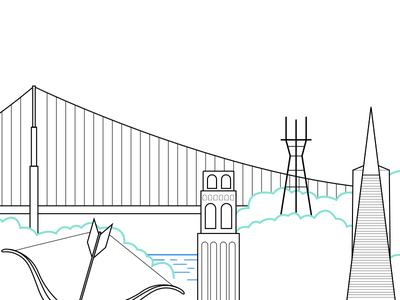 San Francisco Landmarks bay area karl the fog golden gate bridge san francisco coit tower cupids span sutro tower