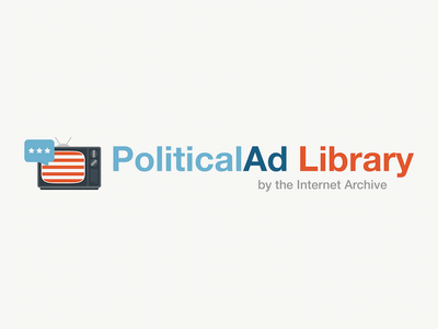 PoliticalAd Library internet archive television tv america american flag library politics political ads