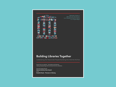 Building Libraries Together internet archive book temple books event conference archive library poster