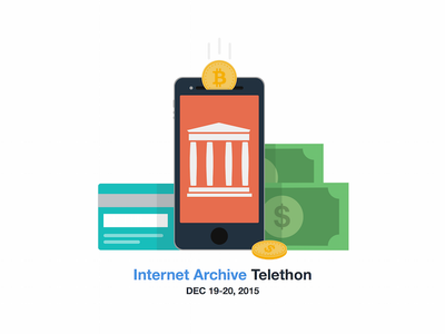 Internet Archive Telethon  fundraising archive internet archive flat cash credit card bitcoin telethon