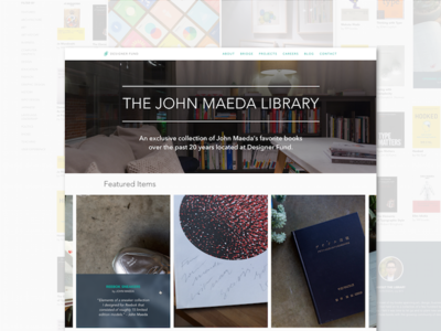 John Maeda Library at Designer Fund library gallery digital collection