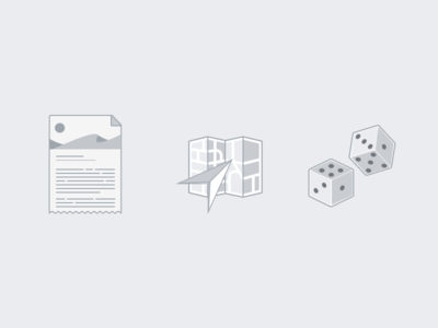 Empty State Illustrations current location random icon empty state document article location map dice