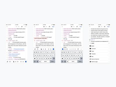 Editing interface: Sneak peek keyboard toolbar wikitext code editor wikipedia syntax highlighting editing