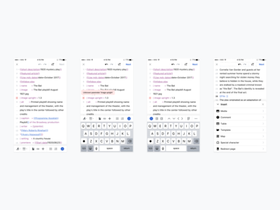 Editing interface: Sneak peek