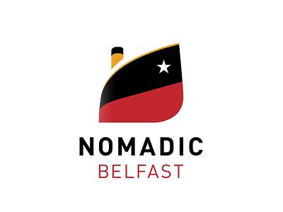 Nomadic Belfast Logo titanic nomadic belfast identity branding logo