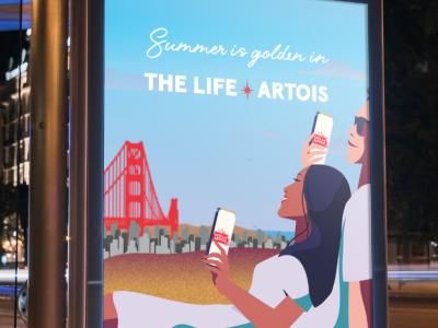 The Life Artois, 2020 - Stella Artois cpg illustration brand illustration art direction adobe illustrator branding graphic design illustration