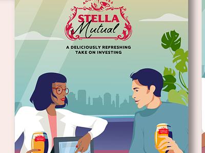 Stella Artois, Stella Mutual branding graphic design illustration