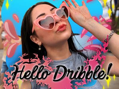 Hey Dribble! It's me! bubbly letters illustrator illustration lettering self portrait