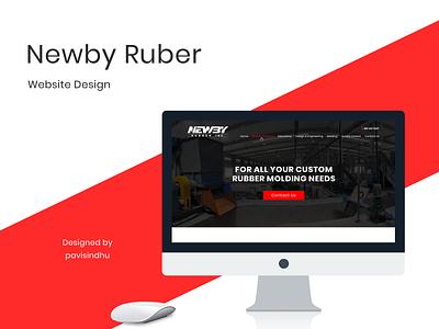 Newby Rubber uidesigner uiux website design webdesign