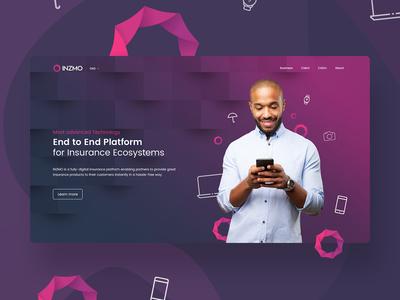 Fintech web design project
