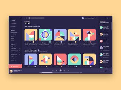 Webplayer Interface Design spotify user interface design ui designer ui  ux design ui  ux interface webplayer webapplication webapp user interface ui design web uidesign flat minimal icon ux ui