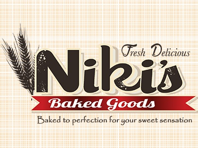 Niki s Baked Goods   Dribble logo design bakery logo logo
