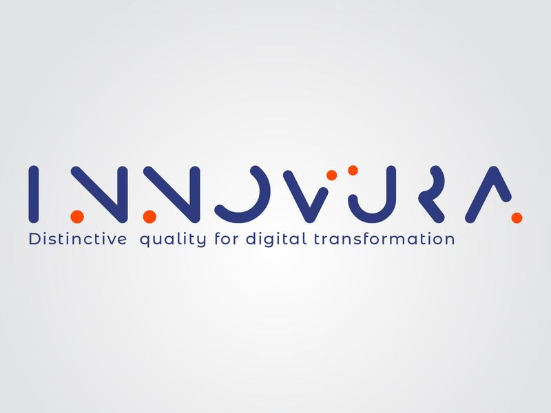 Innovura tech startup logo design logo design corporate logo design tech company logo tech startup logo design