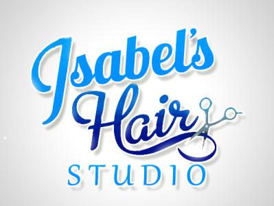 Isabel's Hair Studio logo isabel hair studio logo