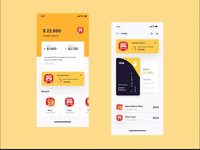 Mobile Banking App crypto wallet fintech app fintech wallet app wallet banking app banking bank app bank finance app finance mobile ui mobile design mobile app