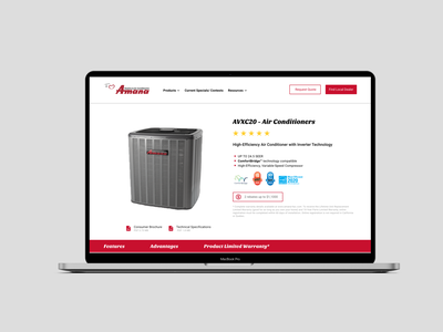 Product Display Page Design prouct design web experience ux ued user interface branding logo ui