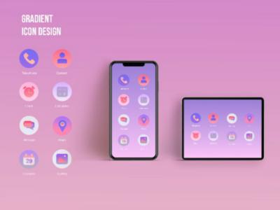 Gradient Icon Design