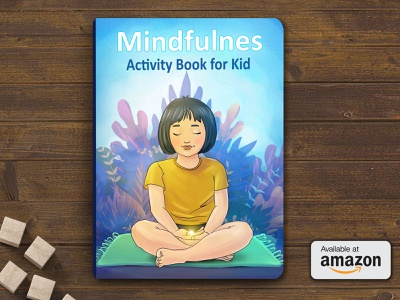 Book Cover Design best children book cover mockups best children book covers 2019 book covers of 2019 top book covers of 2019 top 10 book covers book cover design ideas mindfulness for kids mindfulness worm and cool colors children book illustration children book cover girl eyes closed mindfullness amazon book female character design book cover mockup under the ocean blue background girl meditating book cover design