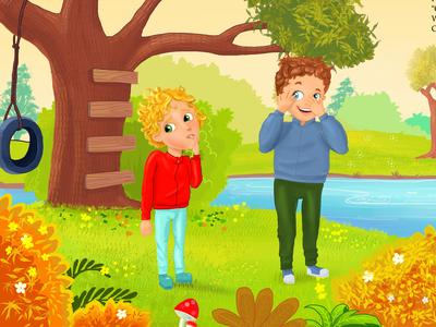 Children book Illustration by Abid Rozdar- Client Work