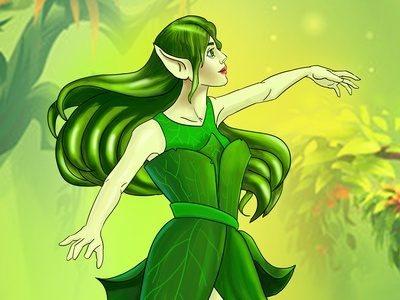 Tree Fairy Character Design by Abid Rozdar