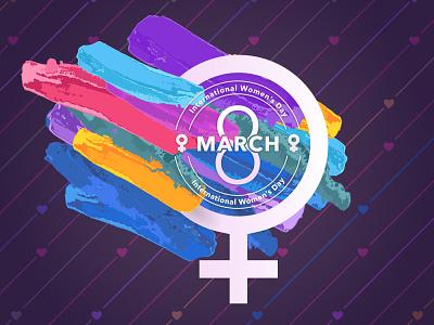 International Women's Day Creative vector logo branding concept womens day women empowerment graphics design art graphixon conceptual authentic