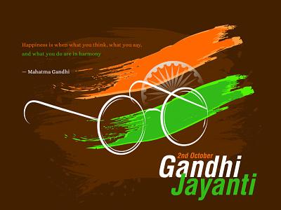 Gandhi jayanti Creative design flyer creative branding concept graphics design art graphixon conceptual authentic