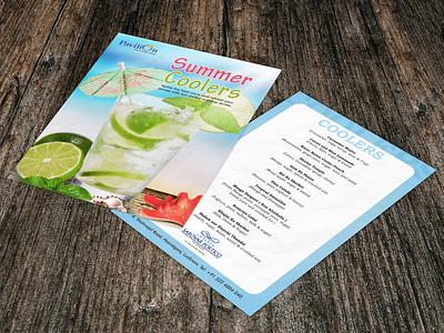 Creative Menu Designs poster summer coolers vector brandidentity flyer branding concept design art graphics graphixon conceptual authentic