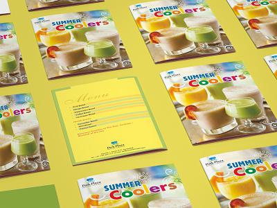 Summer Coolers Menu coolers vector creative branding concept logo graphics design art graphixon conceptual authentic