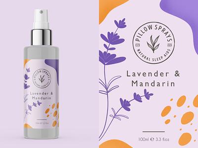Label Design - Lavender branding label packaging cosmetic lavender flat illustration packaging design label